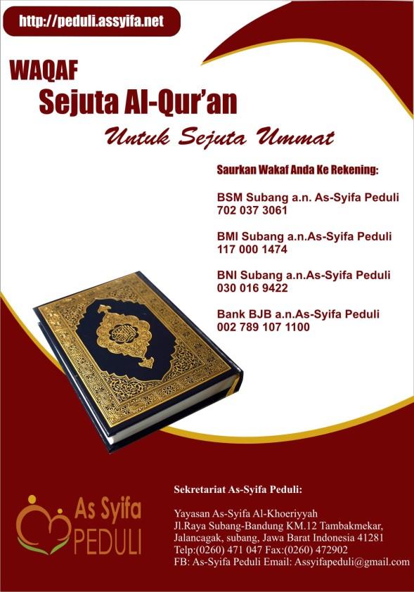 Waqaf Sejuta Al-Qur'an